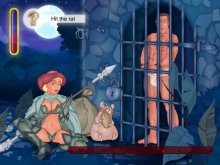 Cartoon adults behave really horny in the jail