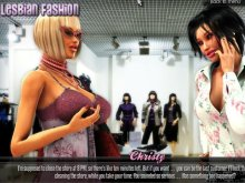 Erotic fashion game for sexy lesbians