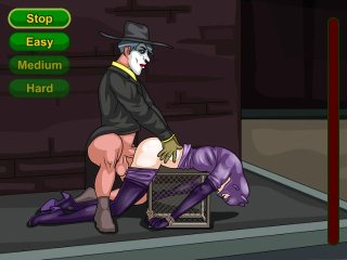 Horny Joker fucks busty Catslut in horny sex game