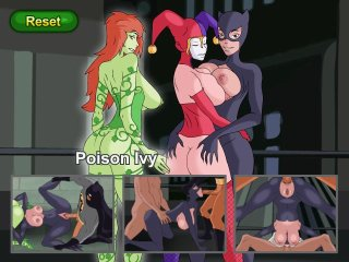Cartoon Batman fucks girls in Gotham City