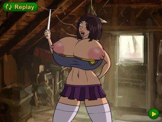 Busty Herminoe slut fucks in busty porn game